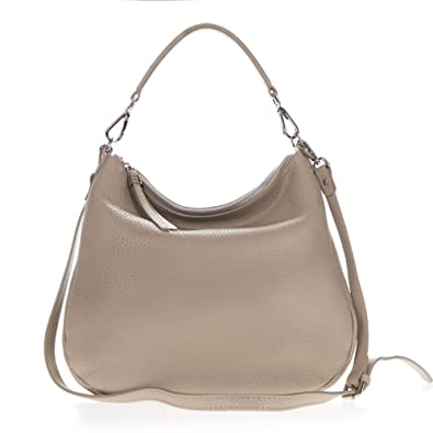 Gianni Chiarini Italian Made Beige Pebbled Leather Slouchy Hobo ...