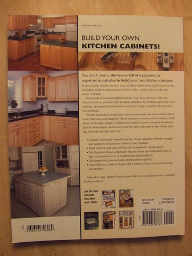 build your own kitchen cabinets popular woodworking danny proulx 9781558706767. Black Bedroom Furniture Sets. Home Design Ideas