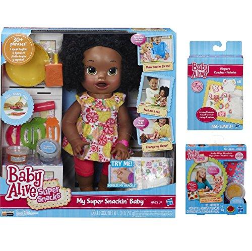 d34102334 Baby Alive Super Snacks Snackin Sara African American W Bonus Super ...