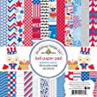 Doodlebug Patriotic Picnic Paper Pad (24 Pack), 6 by 6\