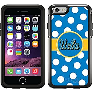 Coveroo Cell Phone Case for iPhone 6 - Retail Packaging - Black/Ucla Polka Dots Design