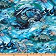 North American Wildlife Swimming Fish Ocean Fabric