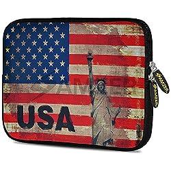 Amzer 5246105 10.5 Inch Neoprene Sleeve - Rustic Liberty US Flag