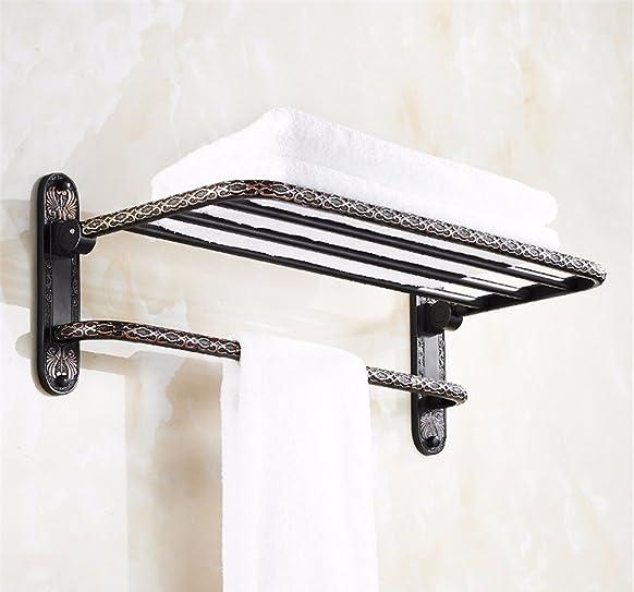 Di stile europeo bagno nero portasciugamani in rame solido bagno bagno hardware, pendente A