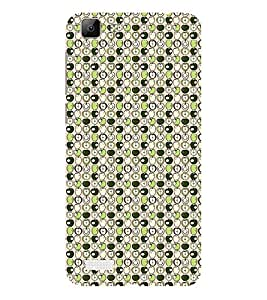 ifasho Animated Pattern design many small apple full and half Back Case Cover for VIVO Y53