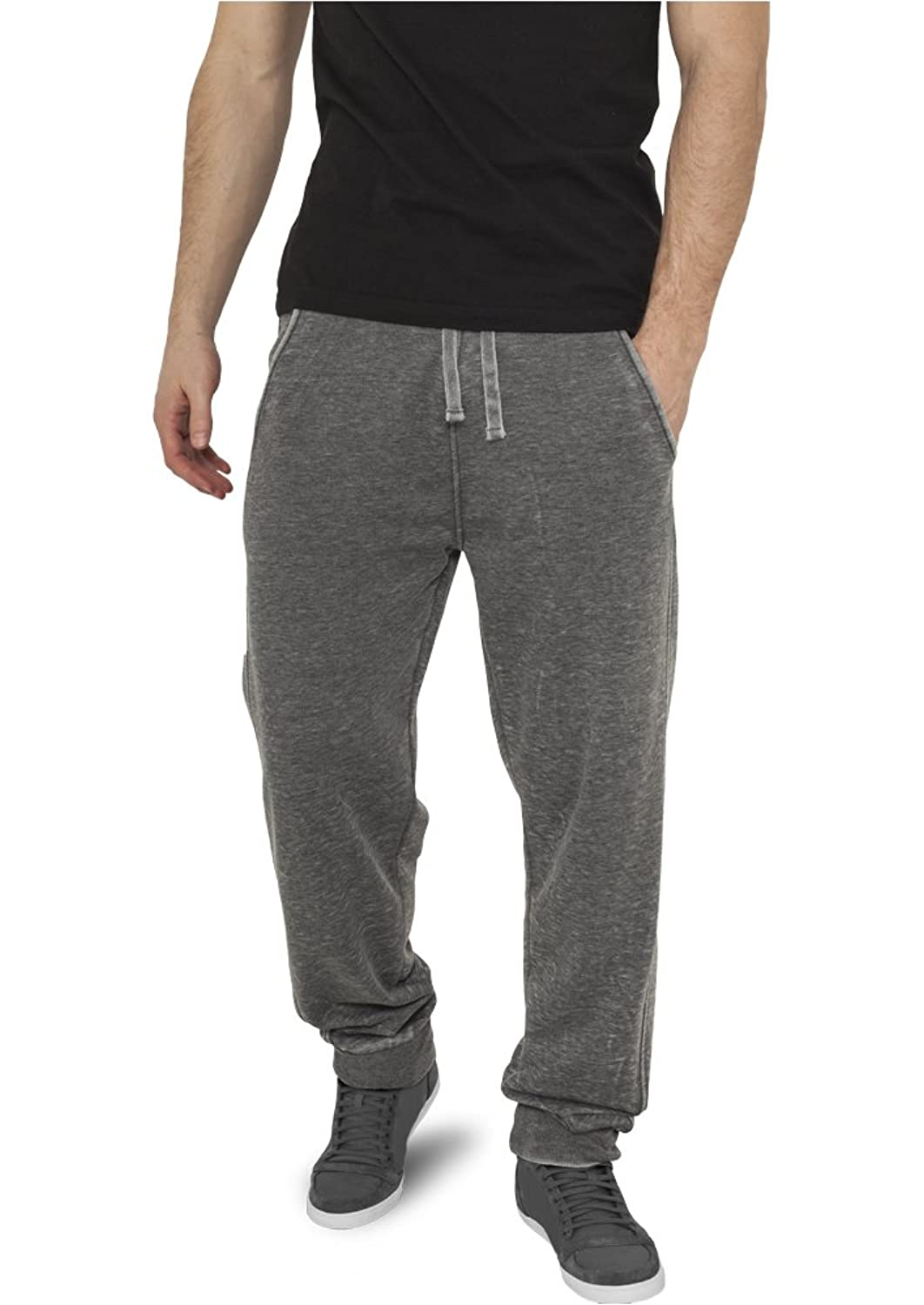 URBAN CLASSICS Burnout Sweatpants, dark grey