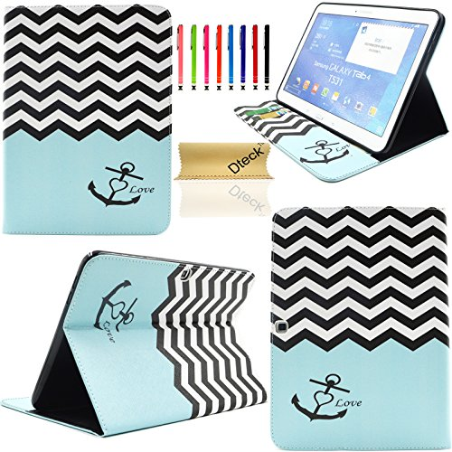 T530 Case,Galaxy Tab 4 10.1 Case, Dteck(TM) Ultra Slim Colorful Painting Design [High Quality Leather] Flip Stand Case Cover for Samsung Galaxy Tab 4 10.1 SM-T530 T531 T535 (The Waves)