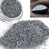 Oksale® Sparkly Makeup Glitter Loose Powder Eyeshadow Silver Gold Eye Shadow Pigment (Silver) (Color: Silver, Tamaño: Medium)