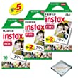 Fujifilm INSTAX Mini Instant Film Packs (White) For Fujifilm Mini 8 Cameras ...