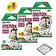 Fujifilm INSTAX Mini Instant Film Packs (White) For Fujifilm Mini 8 Cameras ...