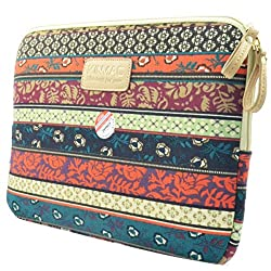 Katia Bohemian Style Canvas Fabric Laptop / Notebook Computer / MacBook / MacBook Pro Sleeve Case Bag Cover (15-15.6 Inches, Mystic Forest)