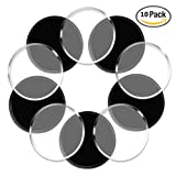 Sticky Gel Pads IHUIXINHE Anti-slip Non-slip Gel Mat Sticky Auto Gel Holder for Cell phone, Pad, Keys, Easy Remove, Stick to Anywhere & Holds Anything 10pcs (Round)