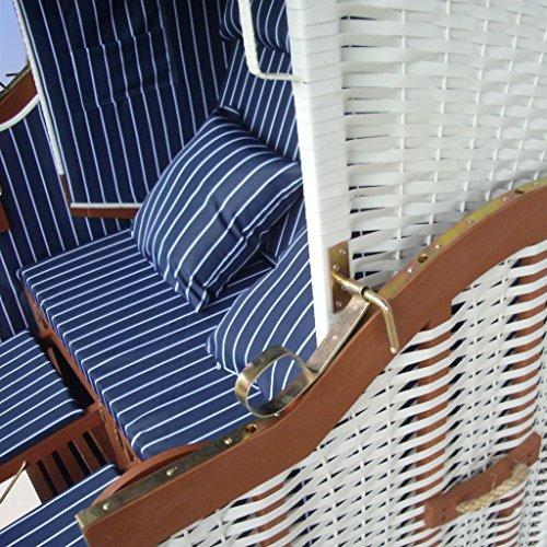 strandkorb wei blau g nstig f r balkon inkl luxus. Black Bedroom Furniture Sets. Home Design Ideas