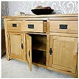 Westbury Reclaimed Oak Large Sideboard, width 135cm