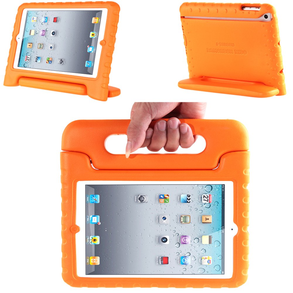 i-Blason ArmorBox Kido Series Light Weight Super Protection Convertable Stand Cover Case for iPad 2, New iPad 3, iPad 4 (Orange)