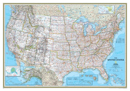 detailed map of usa with states and. Our most popular United States wall map. Features all 50 States with insets