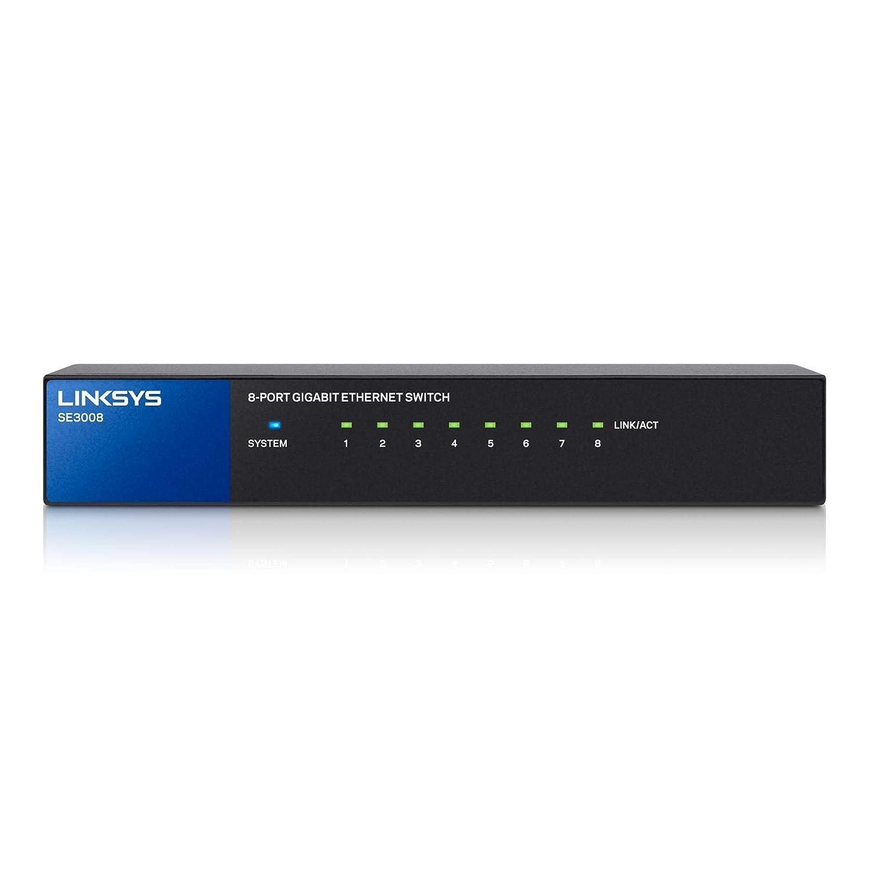 Linksys 8-Port Metallic Gigabit Switch (SE3008)