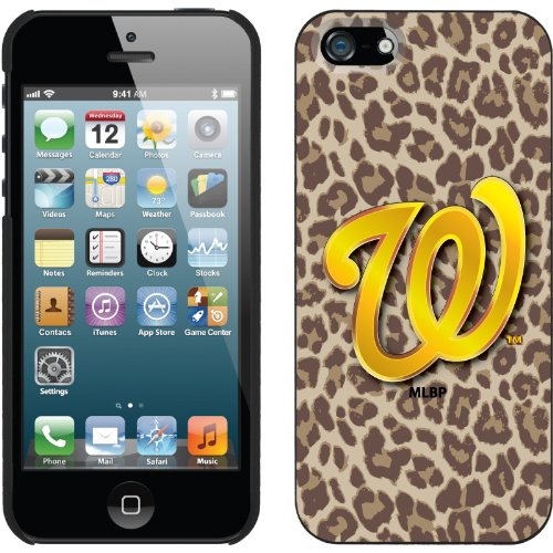Special Sale Washington Nationals - Leopard Print design on a Black iPhone 5s / 5 Thinshield Snap-On Case by Coveroo