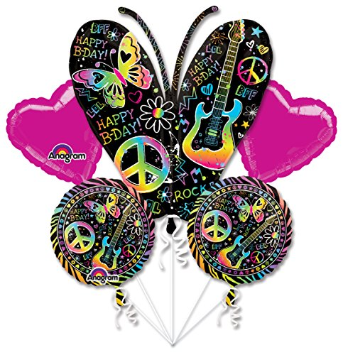 Mayflower BB102628 Neon Birthday Balloon Bouquet
