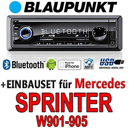 Mercedes sprinter 901-905-bLAUPUNKT brisbane w 230/mP3/uSB avec kit de montage autoradio avec bluetooth