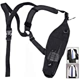 abcGoodefg Universal Left Side Radio Shoulder Holster Chest Harness Holder for Two Way Radios Walkie Talkie Rescue Essentials