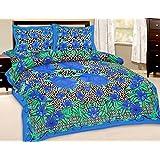Fab Rajasthan Unique Arts Designer Exclusive 3 Pcs. Floral Print King Size Double Bed Sheet - B00XC3BMLS