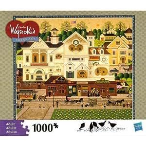 """Charles Wysocki's Americana """"Derby Square"""" 1000 Piece Puzzle"""