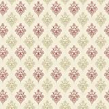 MyTinyWorld Dolls House Miniature Red And Sage Heraldic Diamond Wallpaper