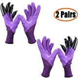 Garden Genie Gloves with Clawsï¼?2019 Upgradeï¼?, Waterproof and Breathable Garden Gloves for Digging Planting, Best Gardening Gifts for Wom