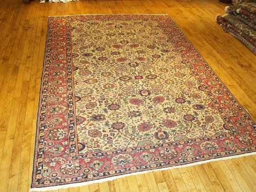 "Handmade Antique Turkish Kayseri Rug 8'3""x11'4"""
