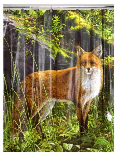 Morning Light Fox Shower Curtain - Wildlife Shower Curtains