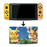 Pokemon: Let's Go, Pikachu! and Let's Go, Eevee! Game Skin for Nintendo Switch Console and Dock 100% Satisfaction Guaranteed