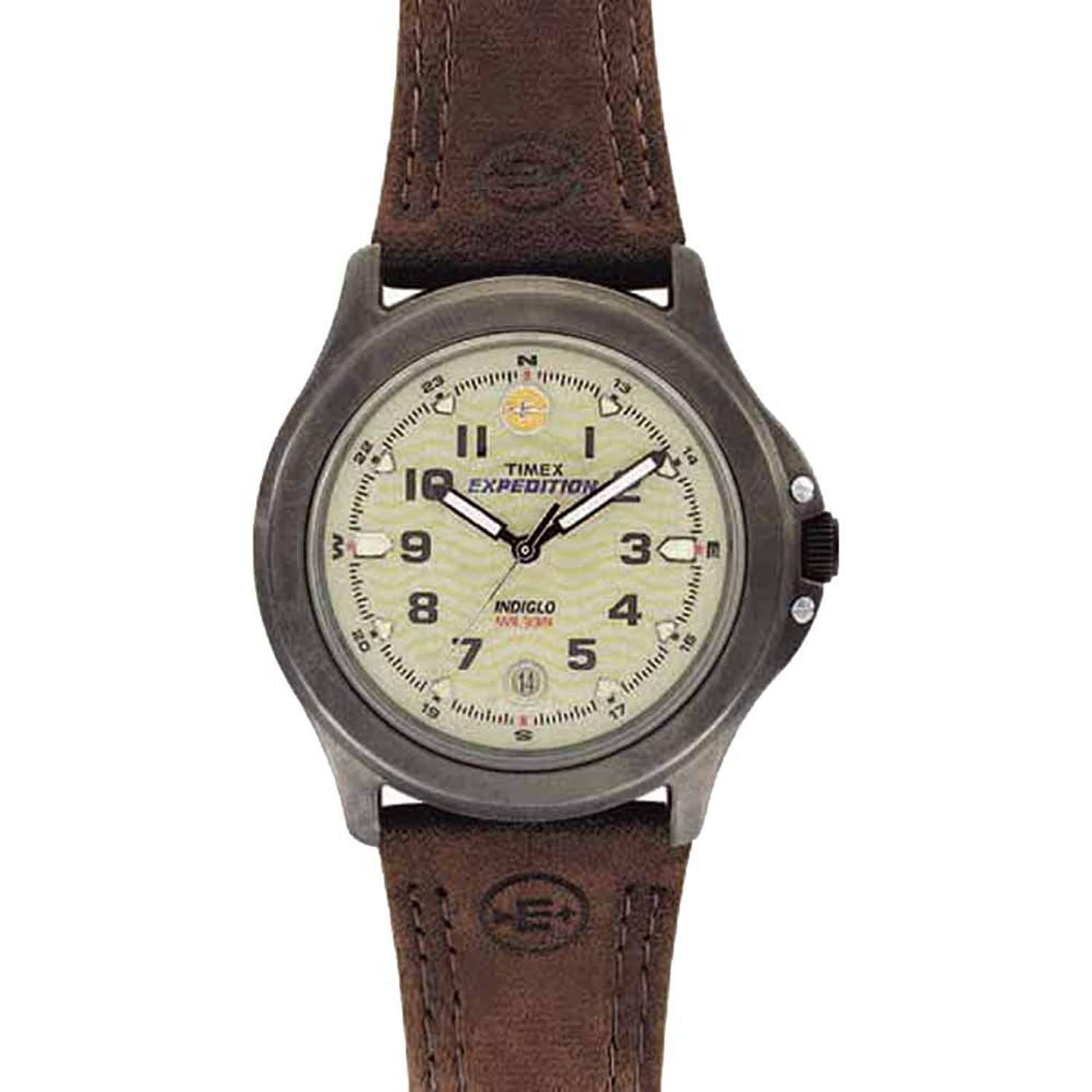 Timex T47042 Expedition Metal Field Mineral Glass Crystal Brushed Finish timex t5k808