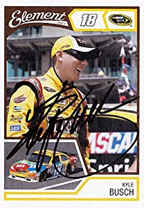 Buy AUTOGRAPHED Kyle Busch 2011 Wheels Element #18 M&M'S RACING TEAM (Gibbs) NASCAR SIGNED Trading Card w  COA by Trackside Autographs