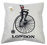 (ライフィーズ) Lifees クッションカバー 45×45cm ロンドン シンボル 5種類 (自転車)