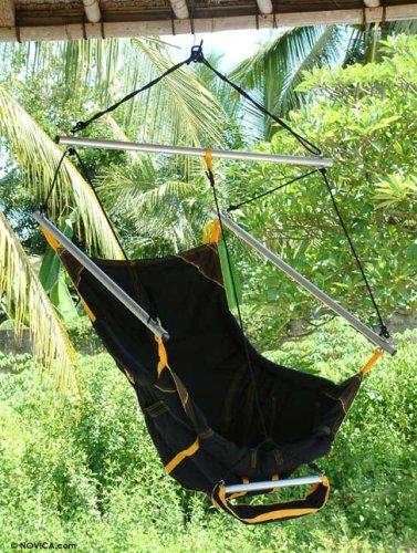 Parachute hammock chair, 'Easy Traveler'