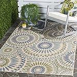 "Safavieh Veranda Collection VER091-0614 Indoor/ Outdoor Cream and Green Square Contemporary Area Rug (67"" Square)"