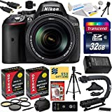 Nikon D5300 24.2 MP CMOS Digital SLR Camera with 18-140mm f 3.5-5.6G ED VR AF-S DX NIKKOR Zoom Lens (Black) (13303) with Must Have Accessory Bundle Kit includes 32GB SD Memory Card + SD Card Reader + 60