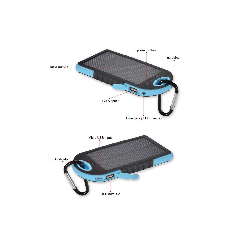 Cargador solar para telefonos como el iphone, samsung, etc...