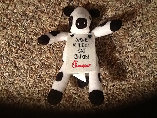 "6"" Chick-Fil-A Plush Cow Toy with placard Save R Hides. Eat Chikin. - 1"