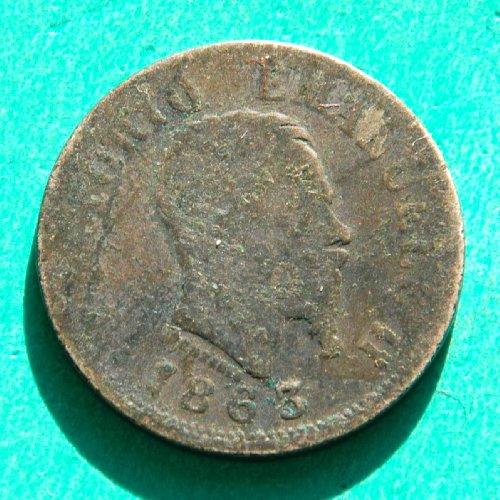 Italy 1863 M Bn Silver 50 Centesimi Coin - Vittorio Emanuele Ii # 2