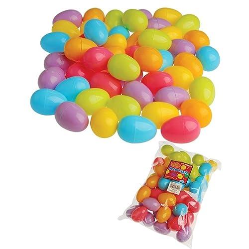 Plastic Easter Eggs (50 per order) Assorted Colors