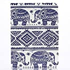 Duo Duo Painted Pattern Flip Leather Stand Cover Case Skin for Samsung Galaxy Tab 3 10.1 inch Tablet P5200 Blue Elephant