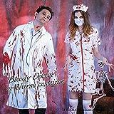 1428-zombienurse(XL,レディース):ハロウィンゾンビドクターナーススプラッターコスプレ仮装衣装メンズレディース大きいサイズホラー怖い血まみれ大人用血のりナース服レディースコスチュームハロウィーンHalloween(XL,レディース)