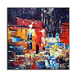 Abstract Street Scene HD Canvas Prints Urban Wall Art Modern Contemporary City Artwork Picture