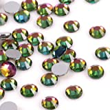 Crystal AB/Crystal Flatback Glass Rhinestones Glue Fix (ss20 (4.8mm) 1440 pcs, Multicolor Effect) (Color: Multicolor effect, Tamaño: ss20 (4.8mm) 1440 pcs)