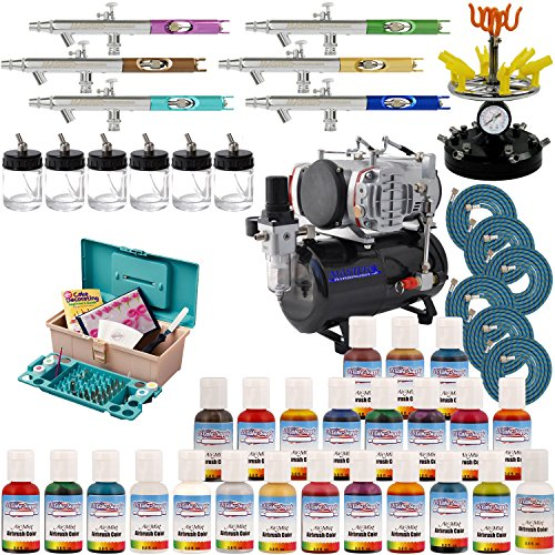 Complete 6 Station Professional Airbrush Cake Decorating ...