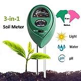 Adorma Soil pH Meter, 3-in-1 Soil Test Kit for Moisture,Light&pH Meter,Gardening Tool Kits, Great for Garden, Plants,Lawn, Farm,Indoor & Outdoor (10 F