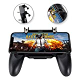 Mobile Game Controller for PUBG, COCASES Phone Trigger Key Gaming Grip Joysticks Gamepad Compatible 4.5-6.5'' Smartphone (Color: Black)