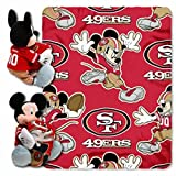 NFL San Francisco 49ers Mickey Mouse Pillow with Fleece Throw Blanket Set